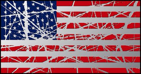 Worn USA Flag 3D