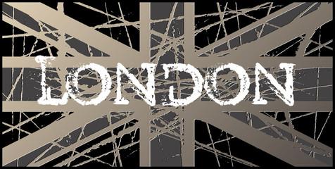 London Vintage Worn UK Flag 3D