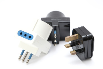 Power cord with plugs and sockets