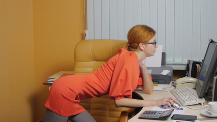 Business Woman working at the office