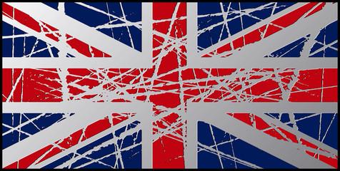 Worn UK Flag 3D