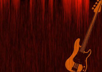 Gitarre / Guitar - Holzgitarre