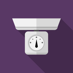 Flat vector icon for kitchen scales