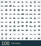 Fototapety 100 car icon