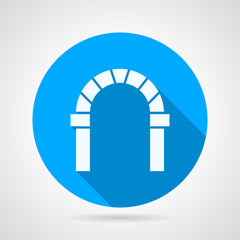 Flat circle vector icon for round arch