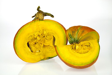 Fresh pumpkin white background