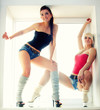 Two sexy girls sports