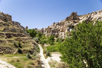Cappadocia. View of a mountain valley in Goreme National Park