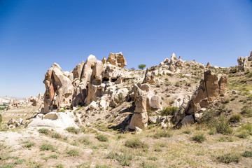 Cappadocia. Picturesque rocks with caves in Goreme National Park