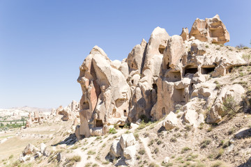National Park of Goreme. Picturesque rocks with artificial caves