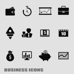Business template. Finance Web Icons
