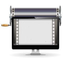 Vector Computer Cinema Concept