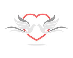 Dove Wedding Love