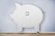 Leinwanddruck Bild - Sparschwein heizung