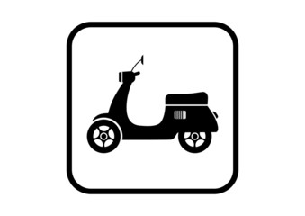 Scooter vector icon on white background