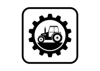 Industrial vector icon on white background