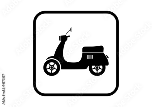 Scooter vector icon on white background - 76570357