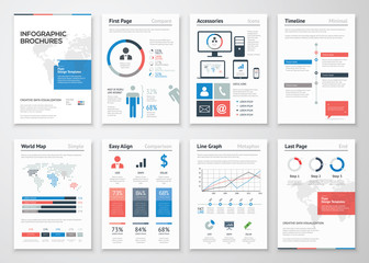 Infographic brochure vector elements collection for business