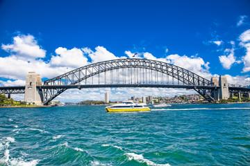 Harbour bridge in Sydney, Australia.