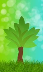 Nachhaltiger Baum als Vorlage