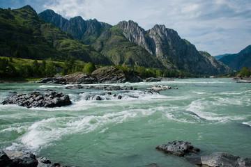 Elanda riffle on the Katun river in the Altai Mountains