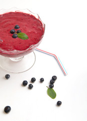 Organic Blueberry Fresh Smoothy made with fresh ingredients