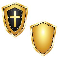 Golden Shield & Cross