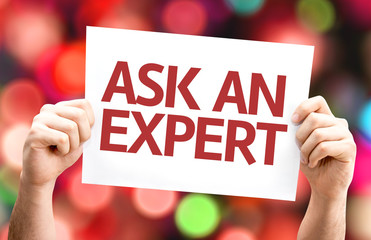 Ask an Expert card with colorful background