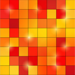 abstract colored square pixel mosaic background