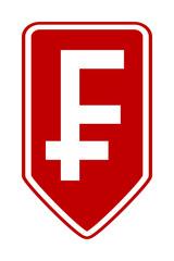 Swiss franc symbol button.