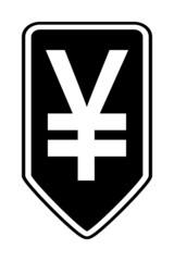 Japan yen symbol button.
