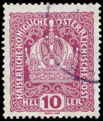 Stamp printed in Austria, shows Austrian Imperial Crown