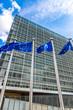 Leinwanddruck Bild - European flags  in Brussels