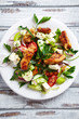 Mediterranean-style chicken salad with feta  and fresh herbs