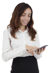 Business woman with a smart phone