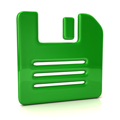 Green floppy disk icon