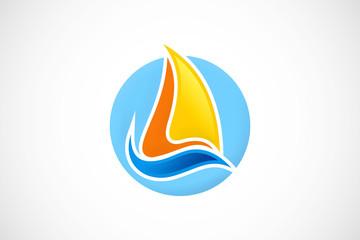 sailing travel logo