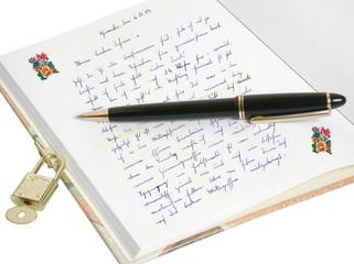 Poesiealbum mit Eintrag