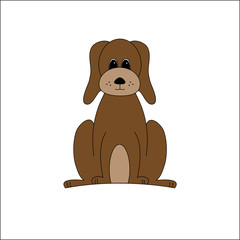 illustration of a brown dog vector