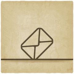 Mail envelope symbol old background