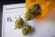Leinwandbild Motiv medical marijuana prescription