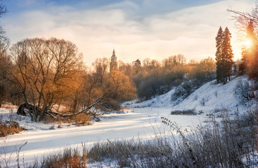 На зимней Протве from the winter river Protva