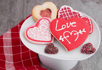 Assortment of Valentine Cookies