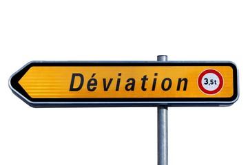 Déviation interdite aux véhicules de plus de 3,5 tonnes