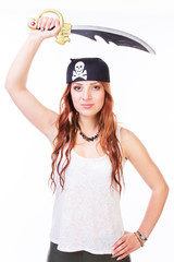 Pirate woman with sword