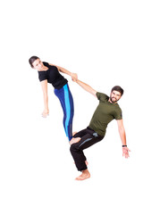 Acro yoga exercise