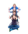 Teenager gestapelt als Pyramide