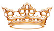 Isolated golden crown to Versailles castle. - 76580302