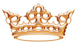 Isolated golden crown to Versailles castle.