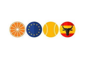 Spain. Icon set